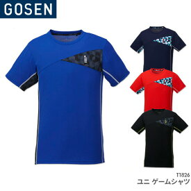 [40%OFF!!]ゴーセン GOSEN ゲームシャツ T1826 ユニ 男女兼用 バドミントン テニス ユニフォーム 日本バドミントン協会審査合格品 セール品につきキャンセル・返品・交換はできません