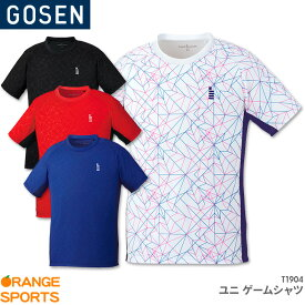 40%OFF!! ゴーセン GOSEN ゲームシャツ T1904 ユニ 男女兼用 ゲームウェア ユニフォーム バドミントン テニス バドミントンウェア テニスウェア 日本バドミントン協会審査合格品 セール品のためキャンセル・返品・交換不可