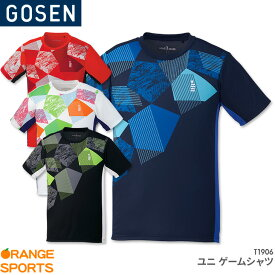 40%OFF!! ゴーセン GOSEN ゲームシャツ T1906 ユニ 男女兼用 ゲームウェア ユニフォーム バドミントン テニス バドミントンウェア テニスウェア 日本バドミントン協会審査合格品 セール品のためキャンセル・返品・交換不可