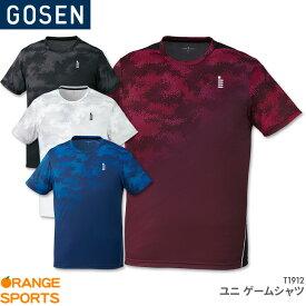 40%OFF!! ゴーセン GOSEN ゲームシャツ T1912 ユニ 男女兼用 ゲームウェア ユニフォーム バドミントン テニス バドミントンウェア テニスウェア 日本バドミントン協会審査合格品 セール品のためキャンセル・返品・交換不可