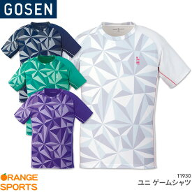 40%OFF!! ゴーセン GOSEN ゲームシャツ T1930 ユニ 男女兼用 ゲームウェア ユニフォーム バドミントン テニス バドミントンウェア テニスウェア 日本バドミントン協会審査合格品 セール品のためキャンセル・返品・交換不可