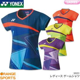 ヨネックス YONEX レディース ゲームシャツ 20521 レディース 女性用 ゲームウェア ユニフォーム バドミントン テニス 日本バドミントン協会審査合格品