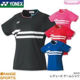 ヨネックス YONEX レディース ゲームシャツ 20539 レディース 女性用 ゲームウェア ユニフォーム バドミントン テニス 日本バドミントン協会審査合格品