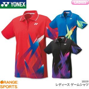 ヨネックス YONEX レディース ゲームシャツ 20559 レディース 女性用 ゲームウェア ユニフォーム バドミントン テニス 日本バドミントン協会審査合格品