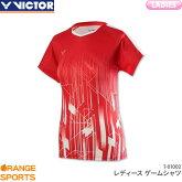 ビクターVICTORゲームシャツT-01002レディース女性用ゲームウェアユニフォームバドミントン日本バドミントン協会審査合格品