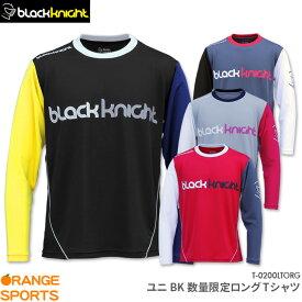 ブラックナイト black knight BK 数量限定ロングTシャツ T-0200LTORG ユニ 男女兼用 ロングスリーブTシャツ バドミントン テニス Tシャツ 長袖