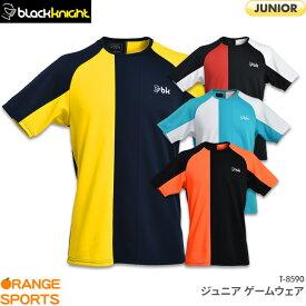 40%OFF ブラックナイト black knight ジュニア ゲームウェア T-8590 JUNIOR ジュニア バドミントン テニス スカッシュ ゲームシャツ ユニフォーム 日本バドミントン協会審査合格品 セール品につきキャンセル・交換・返品不可
