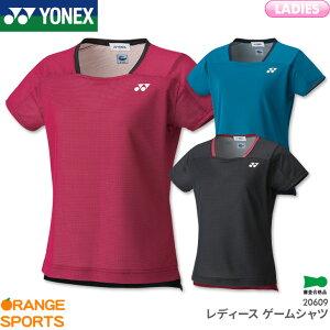 ヨネックス レディース ゲームシャツ 20609 レディース 女性用 ゲームウェア ユニフォーム バドミントン テニス 日本バドミントン協会審査合格品