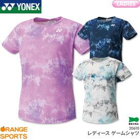 ヨネックス YONEX レディース ゲームシャツ 20610 レディース 女性用 ゲームウェア ユニフォーム バドミントン テニス 日本バドミントン協会審査合格品