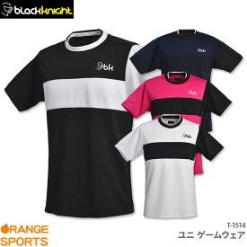 ブラックナイト ゲームウェア T-1514 ユニ 男女兼用 バドミントン テニス スカッシュ ゲームシャツ ユニフォーム 日本バドミントン協会審査合格品