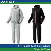 ヨネックス:YONEXスウェットパーカー+パンツ3004330044UNISEX:男女兼用トレーニングウェアスウェットバドミントン・テニスウェア上下セット2017年春夏新作