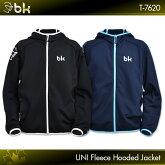 ブラックナイト:blackknightフリースパーカーT-7620UNISEX:男女兼用フリースパーカートレーニングウェアアウターバドミントンテニススカッシュ