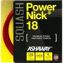 スカッシュストリング、ガットASHAWAY:アッシャウェイパワーニック18Power NIck18
