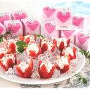 アイス 花いちごアイス(V5746-708A)(IC-4R)敬老の日 母の日 父の日 お誕生日お祝 内祝 快気祝 お中元 お歳暮