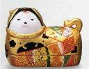【須はら飾り 錦彩犬筥 (大 右) 金 出産祝 結婚祝 雛祭り 桃の節句 長寿祝 新築祝 誕生日祝