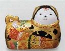 【須はら飾り 錦彩犬筥 (大 左) 金 出産祝 結婚祝 雛祭り 桃の節句 長寿祝 新築祝 誕生日祝