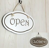 オープン&クローズ看板おしゃれな木製オープンプレートOPENCLOSED両面サイン営業中ハンドメイドインテリア手作り雑貨