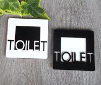 ハンドメイドおしゃれなトイレプレート選べるブラック&ホワイト木製壁付けサインプレートドアプレートインテリア手作り雑貨立体凸凹