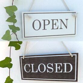 オープン&クローズ看板 おしゃれな 木製 オープンプレート OPEN CLOSED 両面 サイン 営業中 ハンドメイド インテリア 手作り雑貨