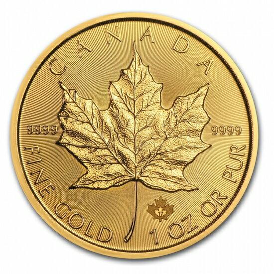 新品未使用 2018 カナダ メイプル金貨 1オンス5枚セット(30mmクリアーケース付き)