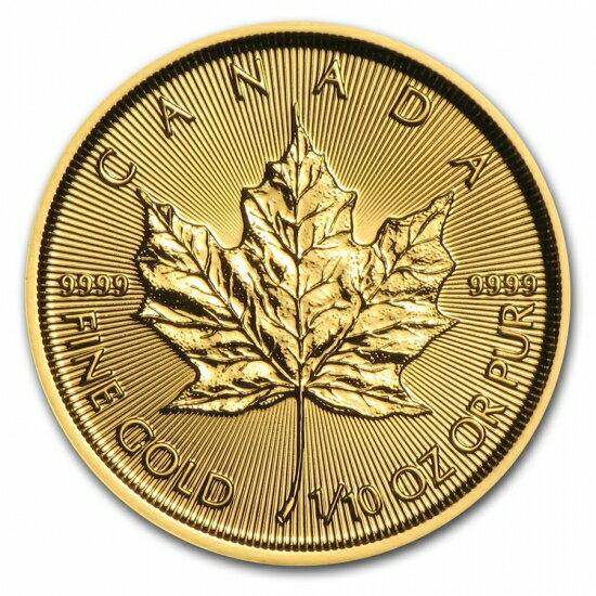 新品未使用 2018 カナダ メイプル金貨1/10オンス