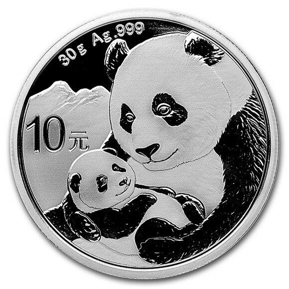 2019 中国 パンダ銀貨 30グラム クリアーケース付き 新品未使用
