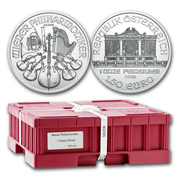 2019 オーストリア ウィーン銀貨 1オンス 500枚セット BOX付き 新品未使用