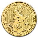 2020 イギリス クィーンズビースト:モーティマーのホワイトライオン 金貨 1/4オンス 新品未使用