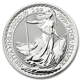 2020 イギリス ブリタニア銀貨 1オンス (39mmクリアーケース付き) 新品未使用 (10月以降発送予定)