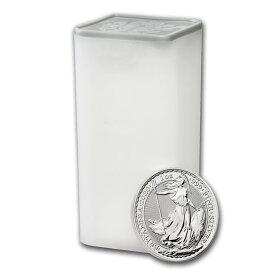 2020 イギリス ブリタニア銀貨 1オンス 【25枚】セット (ミントロールと39mmクリアーケース【25枚】付き) 新品未使用