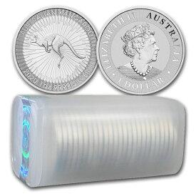 2020 オーストラリア カンガルー銀貨 1オンス【25枚】セット ミントロールと41mmクリアーケース付き 新品未使用 (10月以降発送予定)