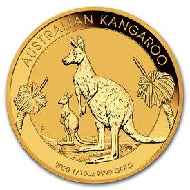2020 オーストラリア カンガルー金貨 1/10オンス 16.5mmクリアケース付き 新品未使用
