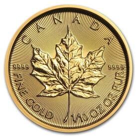 2020 カナダ メイプルリーフ金貨 1/10オンス (真空パック入り) 新品未使用