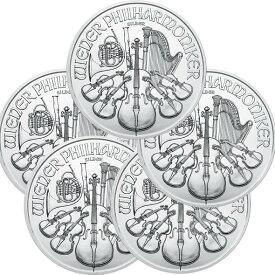 2020 オーストリア ウィーン銀貨 1オンス ■【5枚】セット 37mmクリアーケース付き 新品未使用 (10月以降発送予定)