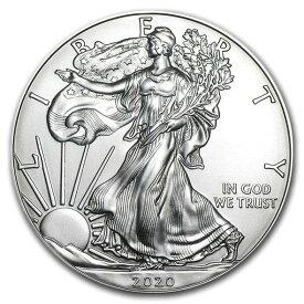 2020 アメリカ イーグル銀貨 1オンス (41mmクリアーケース付き) 新品未使用