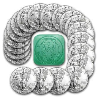 2020美国鹰银币1盎司安排(有薄荷角色和41mm清除盒子)新货未使用
