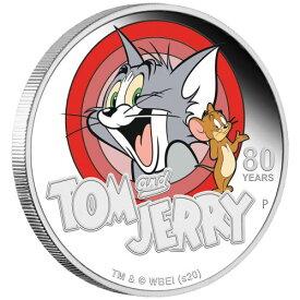 2020 ツバル トムとジェリー 1ドル銀貨 1オンス プルーフ 箱とクリアケース付き 新品未使用