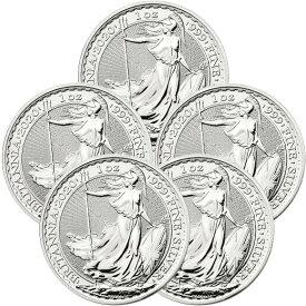2020 イギリス ブリタニア銀貨 1オンス ■【5枚】セット (39mmクリアーケース付き) 新品未使用