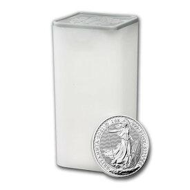 【25枚】2021 イギリス ブリタニア銀貨 1オンス 【25枚】セット (ミントロールと39mmクリアーケース【25枚】付き) 新品未使用