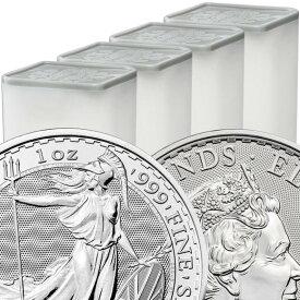 【100枚】2021 イギリス ブリタニア銀貨 1オンス 【100枚】セット (25枚セットミントロール4個付き) 新品未使用