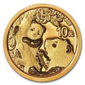 2021 中国 パンダ 金貨 1グラム 10元 真空パック入り 新品未使用