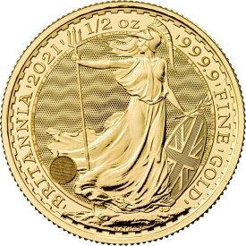 2021 イギリス ブリタニア 金貨 1/2オンス 27mmクリアケース付き 新品未使用