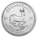 2019 南アフリカ クルーガーランド銀貨 1オンス 39mmクリアケース付き 新品未使用