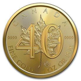 2019 カナダ メイプルリーフ40周年記念金貨 1オンス 30mmクリアケース付き 新品未使用