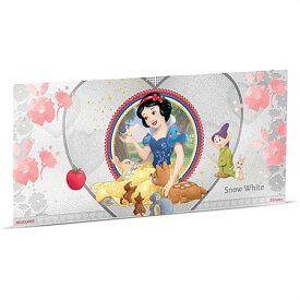 新品未使用 2018 ニウエ ディズニープリンセス:白雪姫 紙幣型銀貨 5g