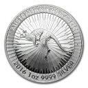 「販売初年度」新品未使用 2016 オーストラリア カンガルー銀貨 1オンス 【5枚】セット 41mmクリアーケース付き