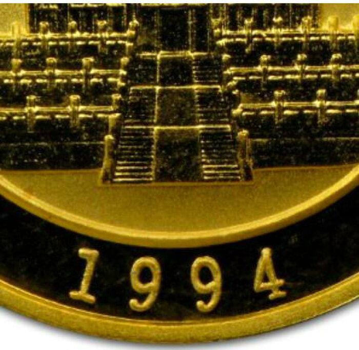 新品未使用1994中国パンダ金貨1オンス