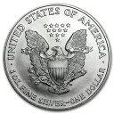 新品未使用 1998 アメリカ イーグル銀貨1オンス(41mmクリアーケース付き)