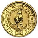 新品未使用 ランダムイヤー オーストラリア、カンガルー金貨 1/4オンス 21mmクリアーケース付き