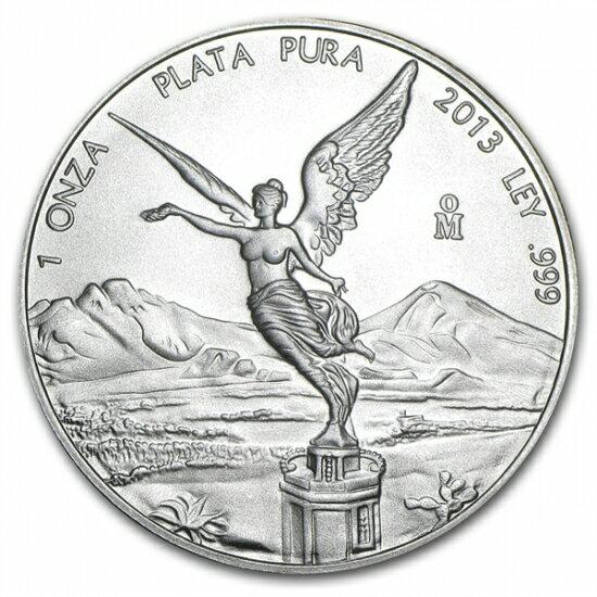 2013年 メキシコ リベルタード銀貨 1オンス 【40mmクリアーケース付き】